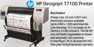 PLOTTER HP DESIGNJETT T7100 PRINTER